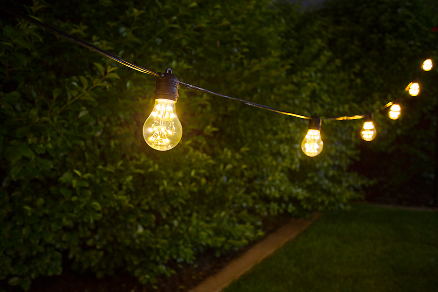 Outdoor led decorative string lights 10 in line sockets Outdoor string lighting