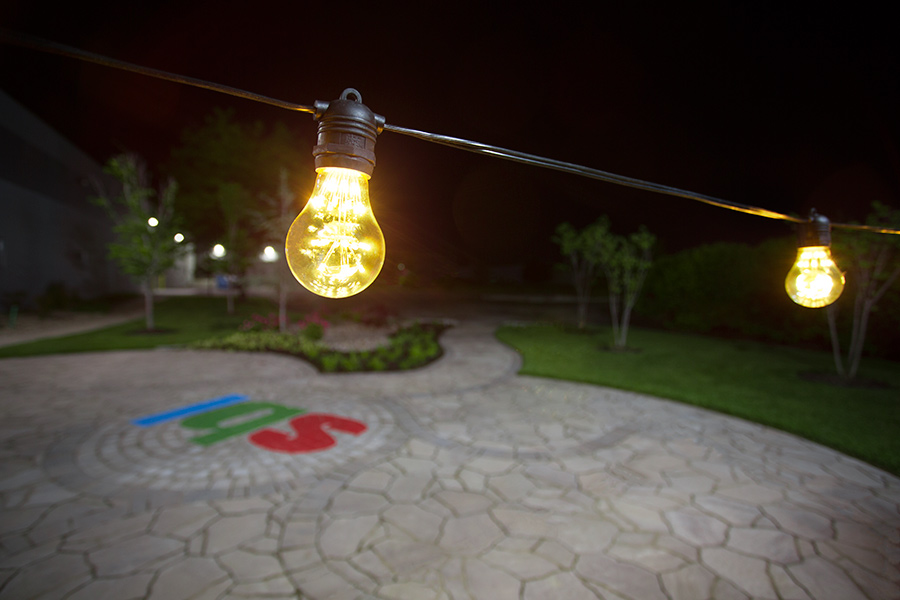 decorative string lighting. outdoor led decorative string lights 10 inline sockets fits e26 bulbs shown with a19dx2fw sold separately installed lighting o