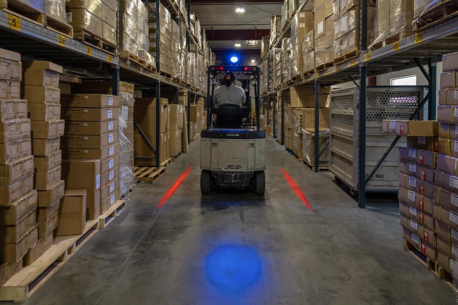Forklift Blue Light Led Safety Light W Spot Beam