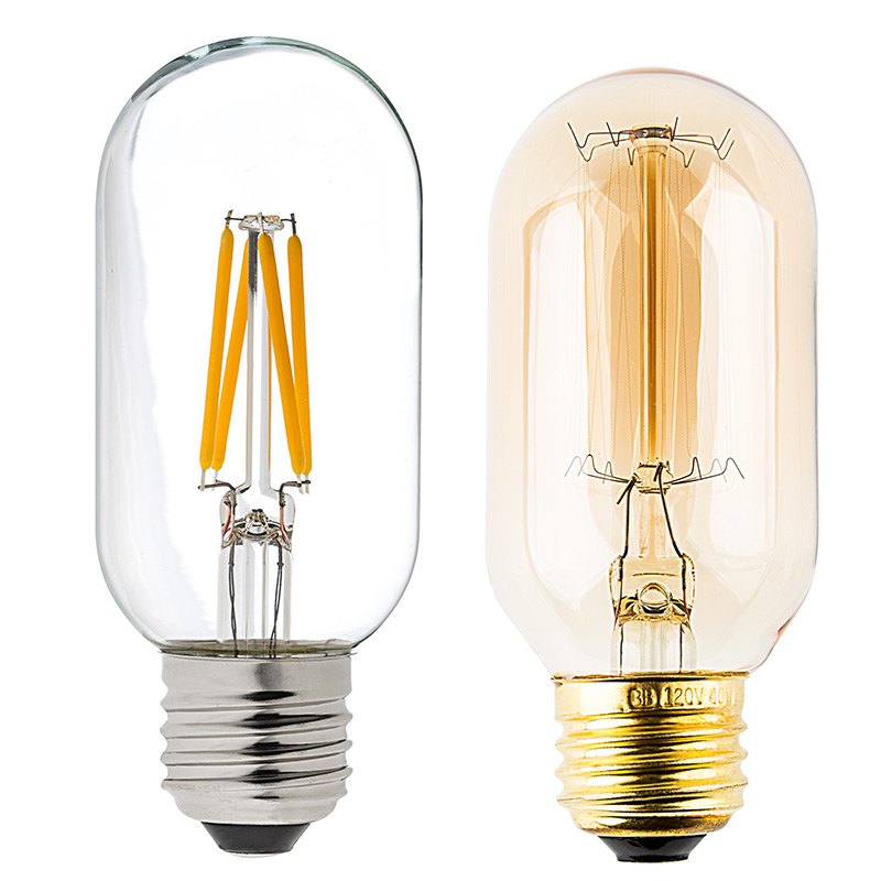 Led Vintage Light Bulb T14 Shape Radio Style Led Bulb With Filament Led Led Tube Lights
