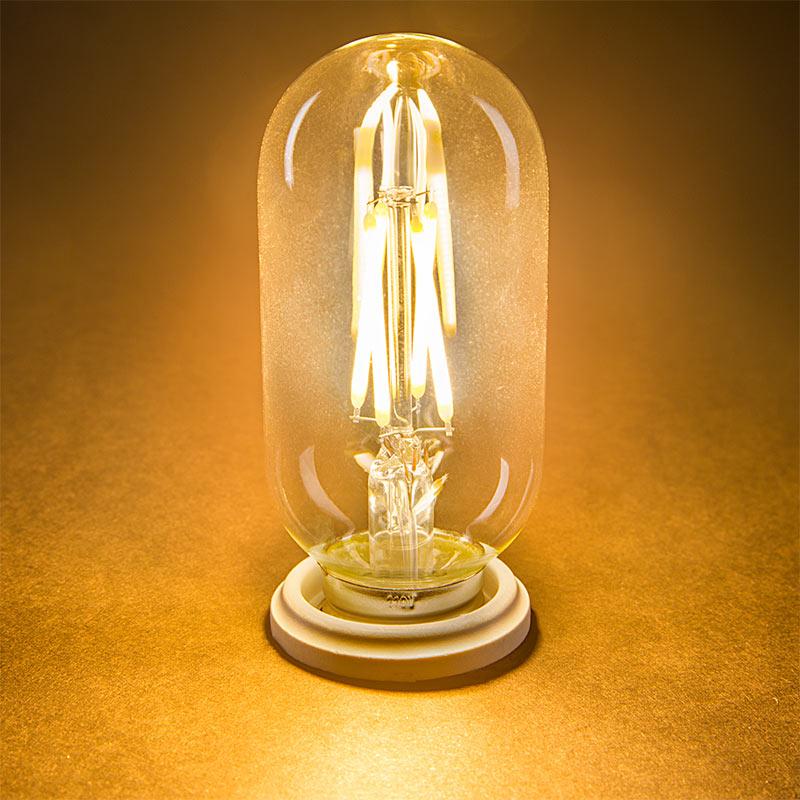 t14 led filament bulb 40 watt equivalent vintage light bulb radio style dimmable 350. Black Bedroom Furniture Sets. Home Design Ideas