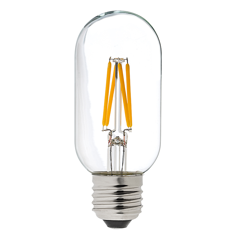 T14 led filament bulb 40 watt equivalent vintage light for Led lampen 0 3 watt