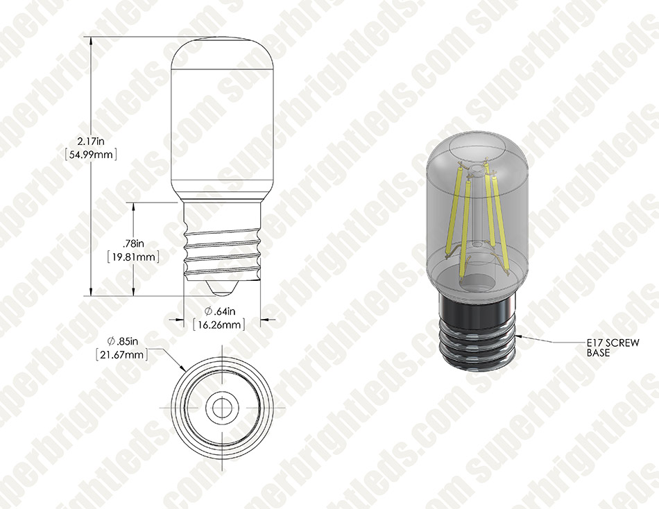 LED Replacement Bulb for the WB36X10003 and other Microwave Light Bulbs