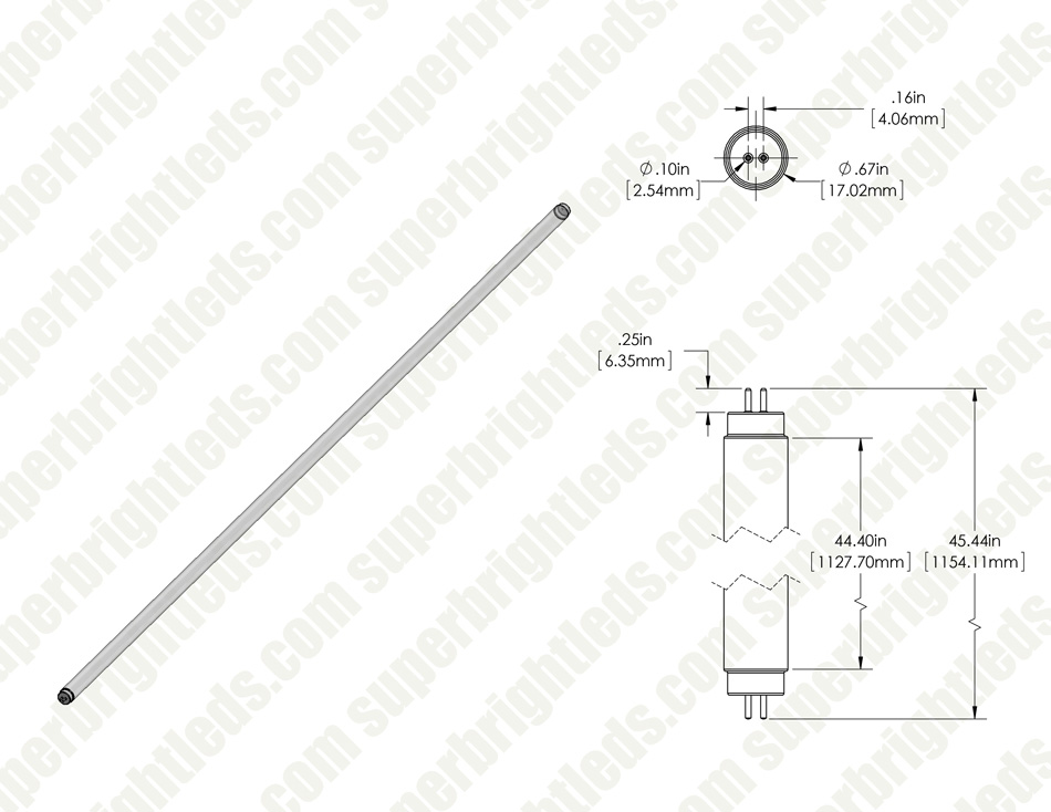 27w t5ho led tube - 3 200 lumens
