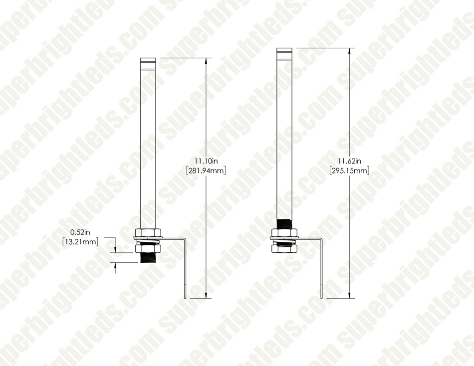 LED Signal Tower Stack Lights - L-bracket Mount with 240mm Pole