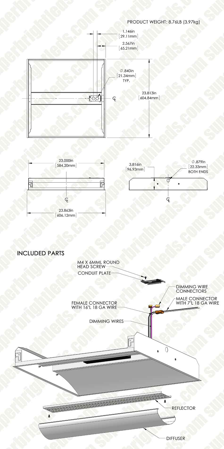 Led Troffer Wiring Diagram Anything Diagrams Recessed Can Light 34w W Center Basket 2ft X 3 900 Rh Superbrightleds Com 12v Lithonia Lighting