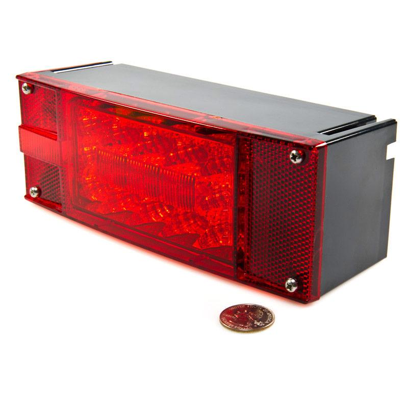 rectangle 8 led truck and trailer lights kit 8 brake. Black Bedroom Furniture Sets. Home Design Ideas