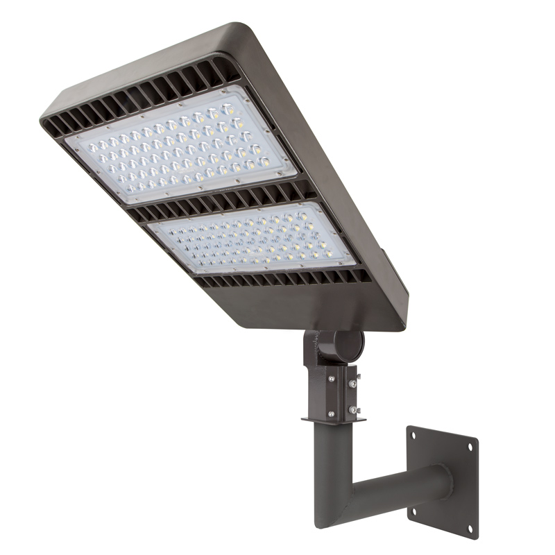 Led Light Fixtures For Parking Garages: Wall-Mount Bracket For LED Area Lights And LED Parking Lot