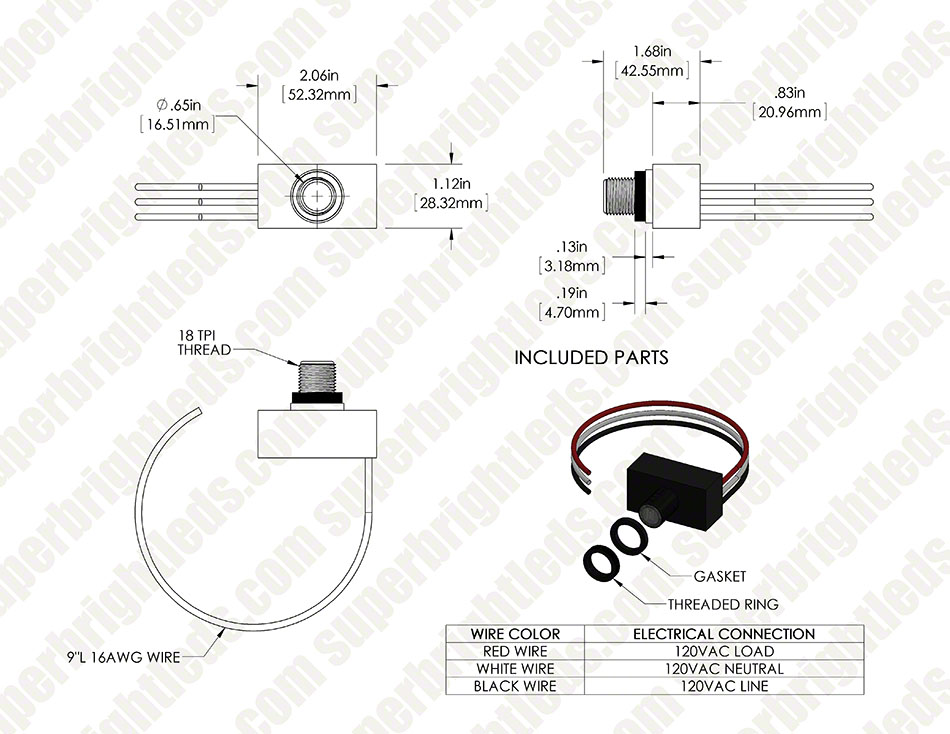 120 vac photocell | super bright leds 480v photocell wiring diagram