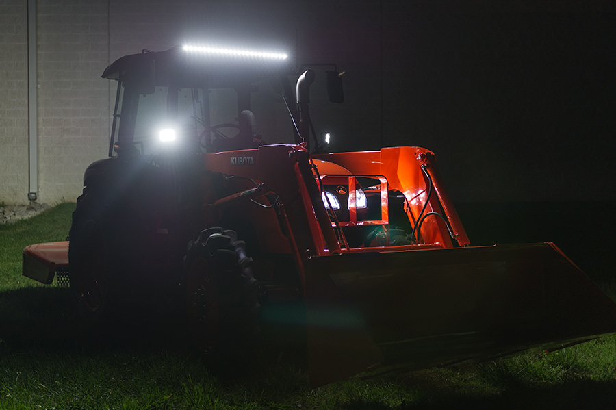 Tractor Front Lights : Quot off road led light bar w lumens super