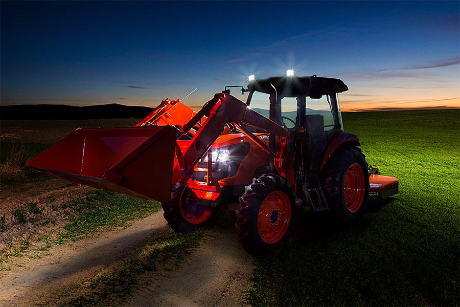 Farm Equipment Headlights : Led work light quot oval w lumens