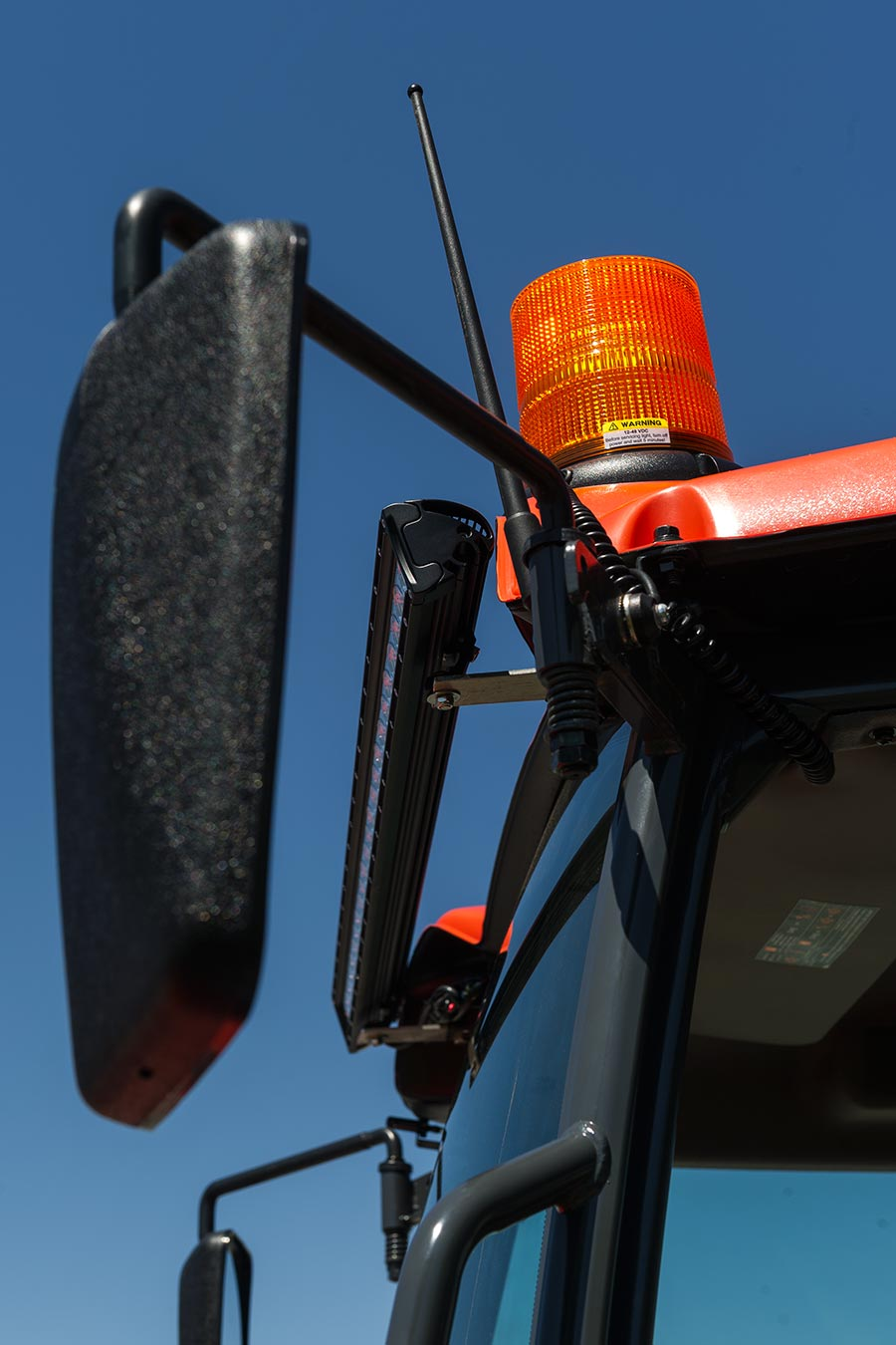 Tractor Safety Lights : Quot amber led strobe light beacon with leds