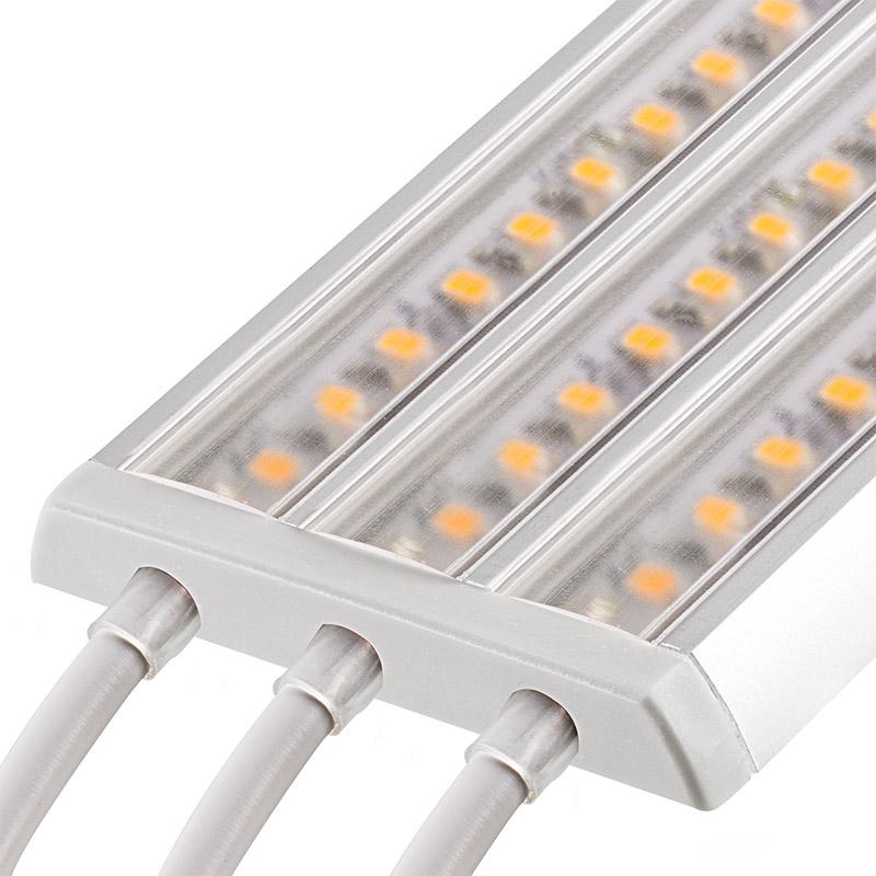 3 channel surface mount led profile housing for led strip lights gip series led light strip. Black Bedroom Furniture Sets. Home Design Ideas