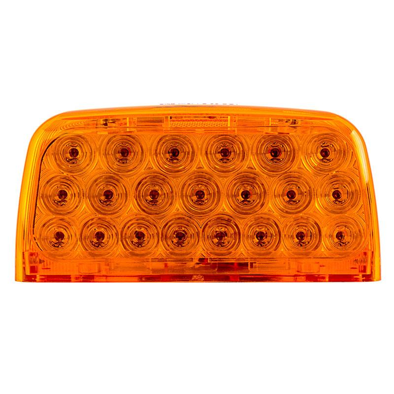 Triangle LED Turn Signal Light for Peterbilt 379 Trucks - Bullet Connector  - Surface Mount - 31 LEDs