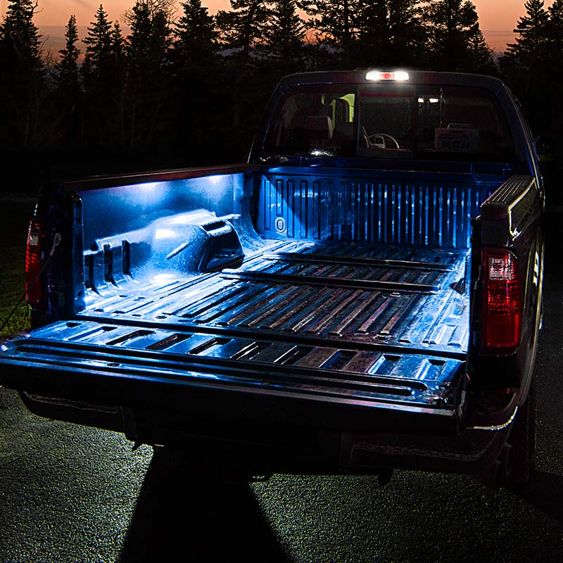 Battery powered led light strips kit single color 2 portable battery powered led light strips kit single color 2 portable led light stripss installed on truck bed mozeypictures Image collections