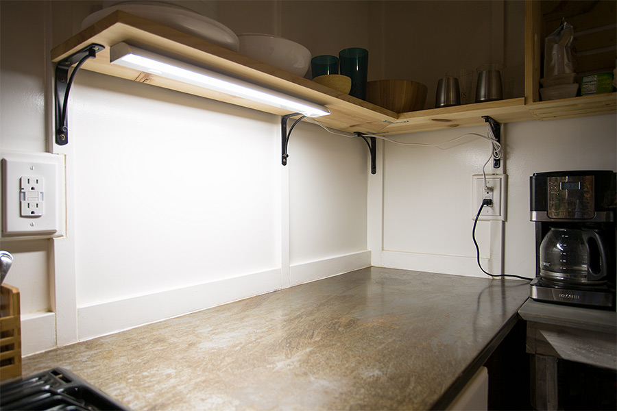 Dimmable Under Cabinet Led Lighting Fixture W Rocker