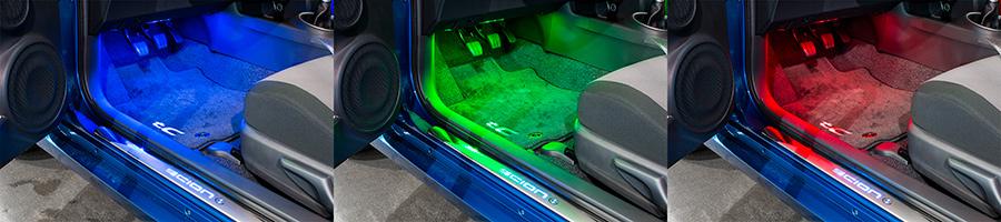 car interior led lighting kit multi strip remote. Black Bedroom Furniture Sets. Home Design Ideas