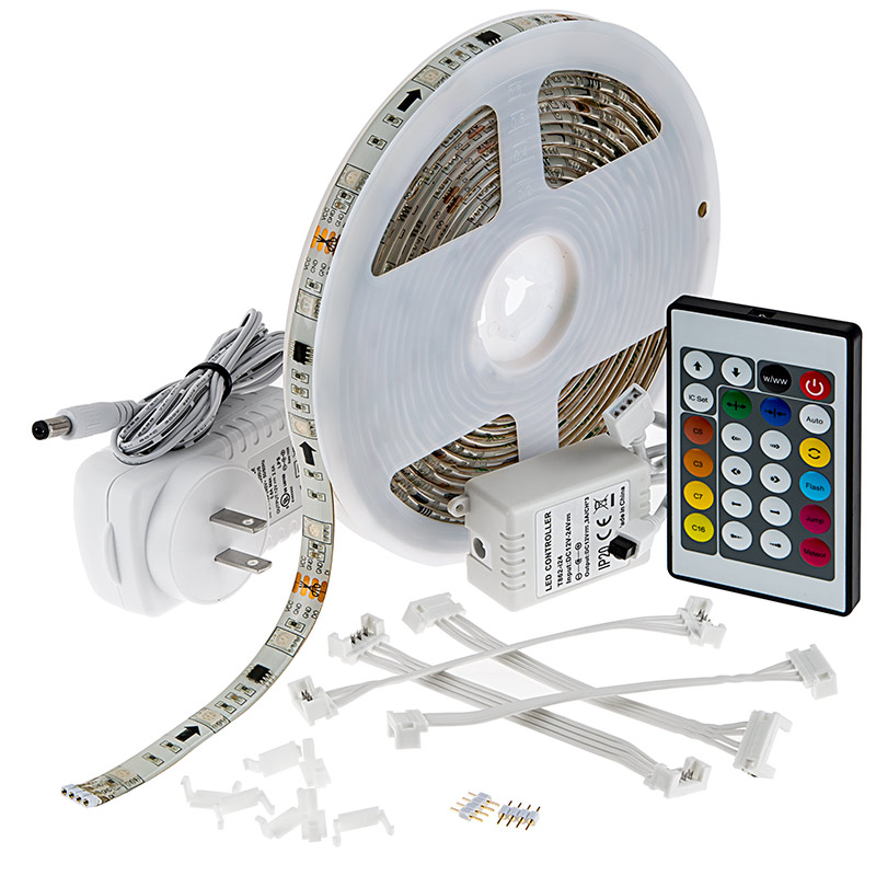 Outdoor RGB LED Strip Light Kit Color Chasing 12V LED Tape Light Weatherp