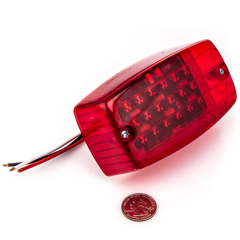 Rectangle LED Golf Cart And Trailer Tail Lights