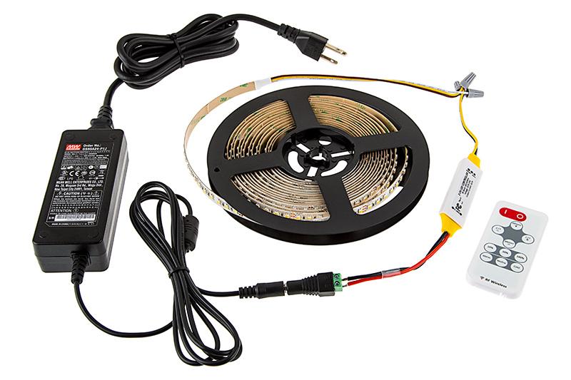 variable white led light strips kit flexible led tape light with 36. Black Bedroom Furniture Sets. Home Design Ideas