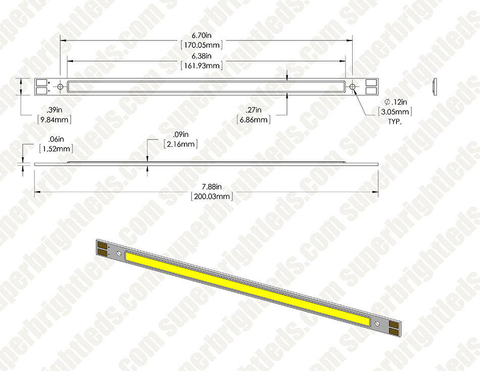 Vollong 10W White High Power Linear COB LED