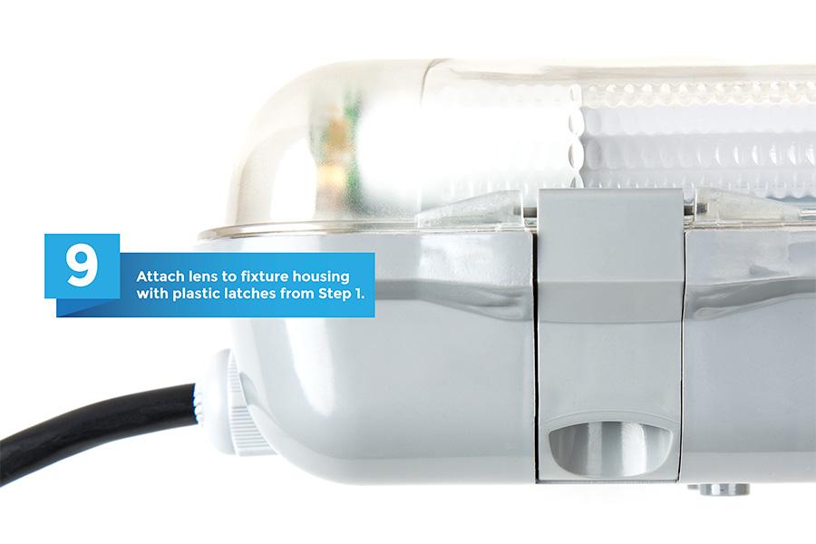 led vapor proof light fixture with 2 t8 tubes industrial led light. Black Bedroom Furniture Sets. Home Design Ideas