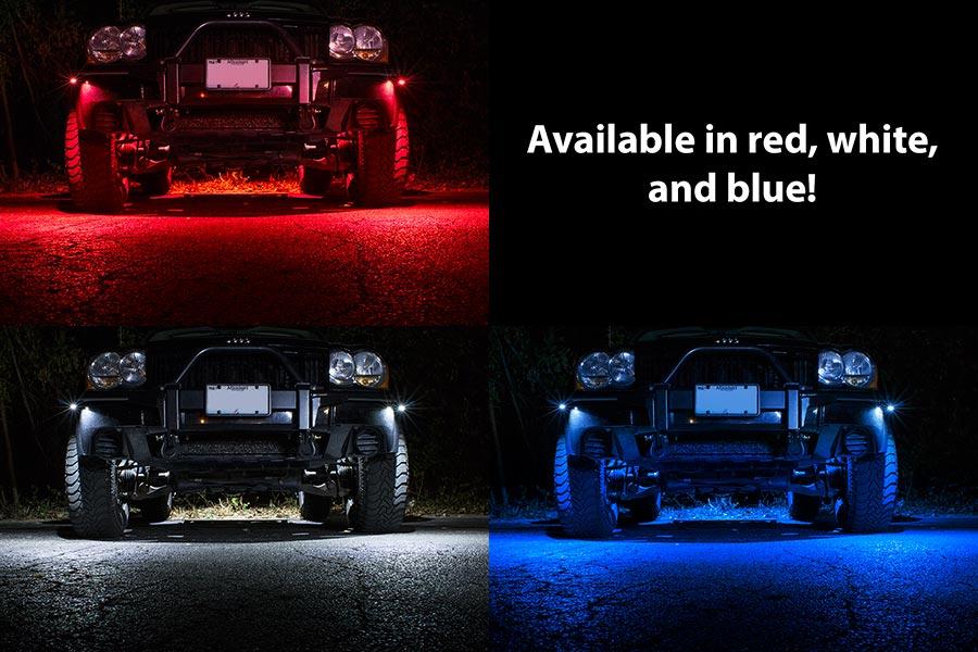 waterproof off road led rock light kit