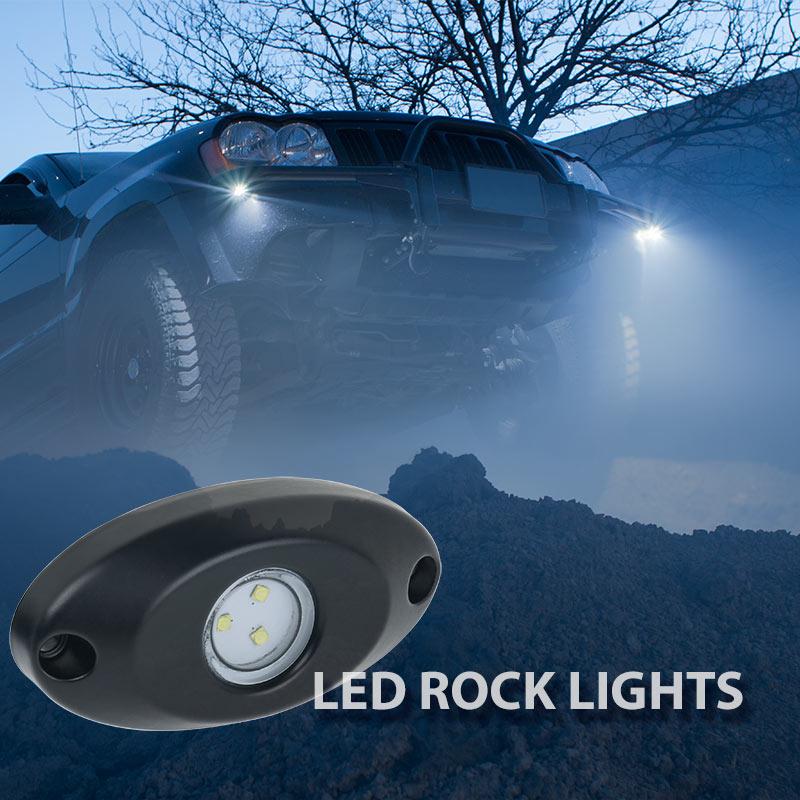 Waterproof Off Road Led Rock Light Kit 8 Led Rock Lights 213 Lumens Super Bright Leds