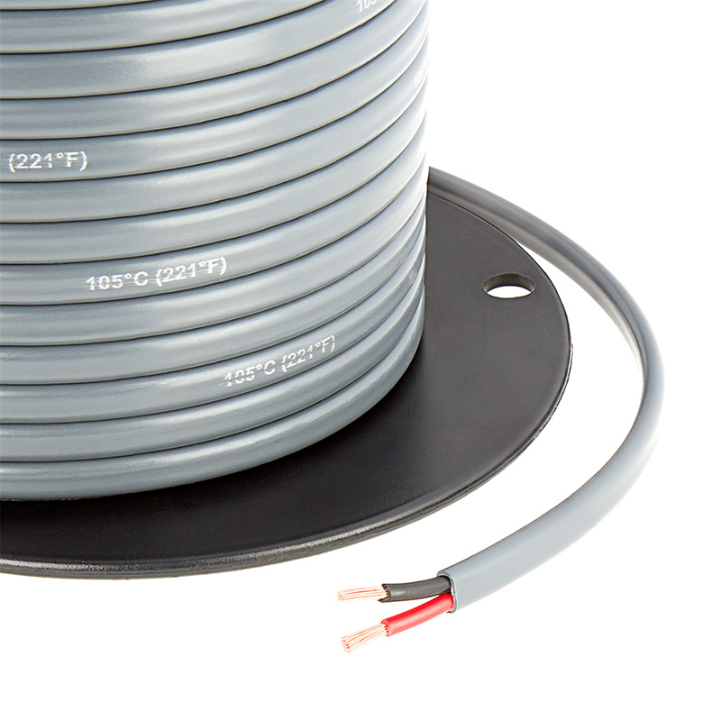 Gray Jacketed 14 Gauge Wire - Two Conductor Power Wire | Super ...