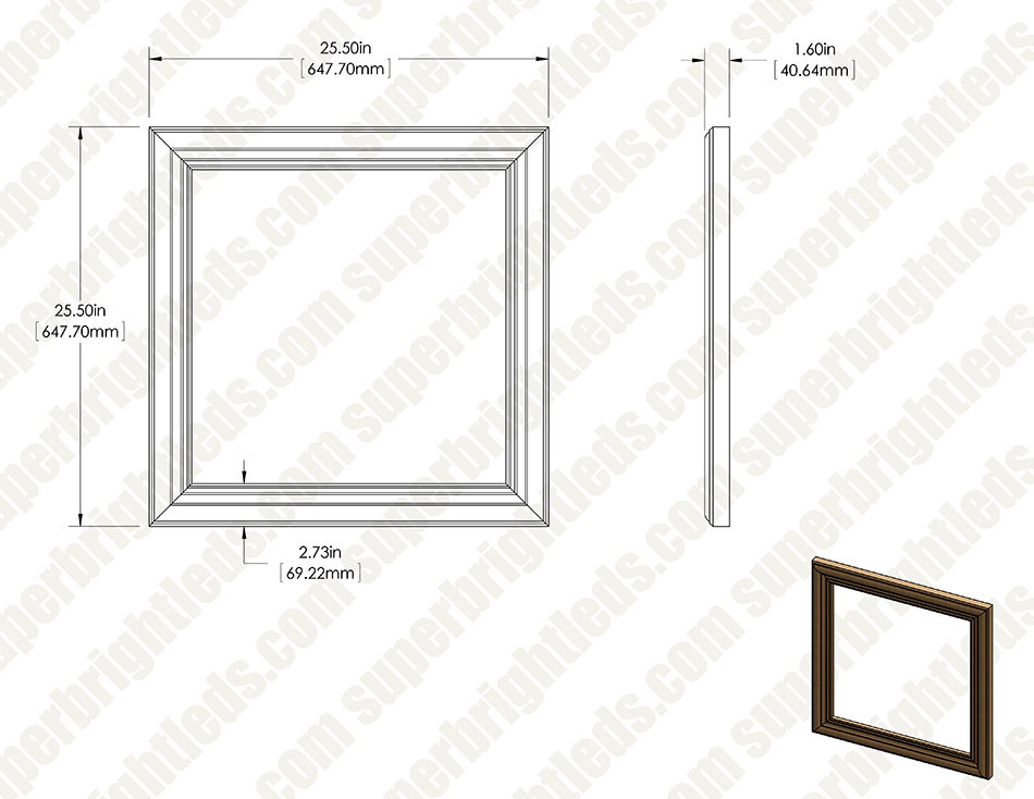 Handmade Wood Frames for Even-Glow® LED Panel Lights