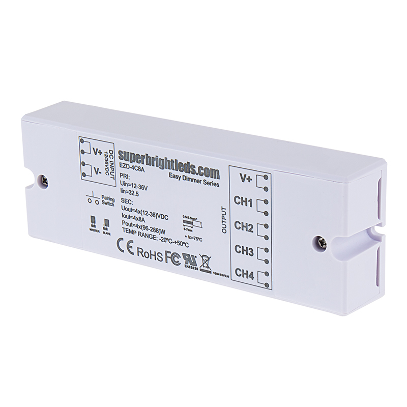 Wireless LED 4 Channel EZ Dimmer Controller w/ Channel Pairing