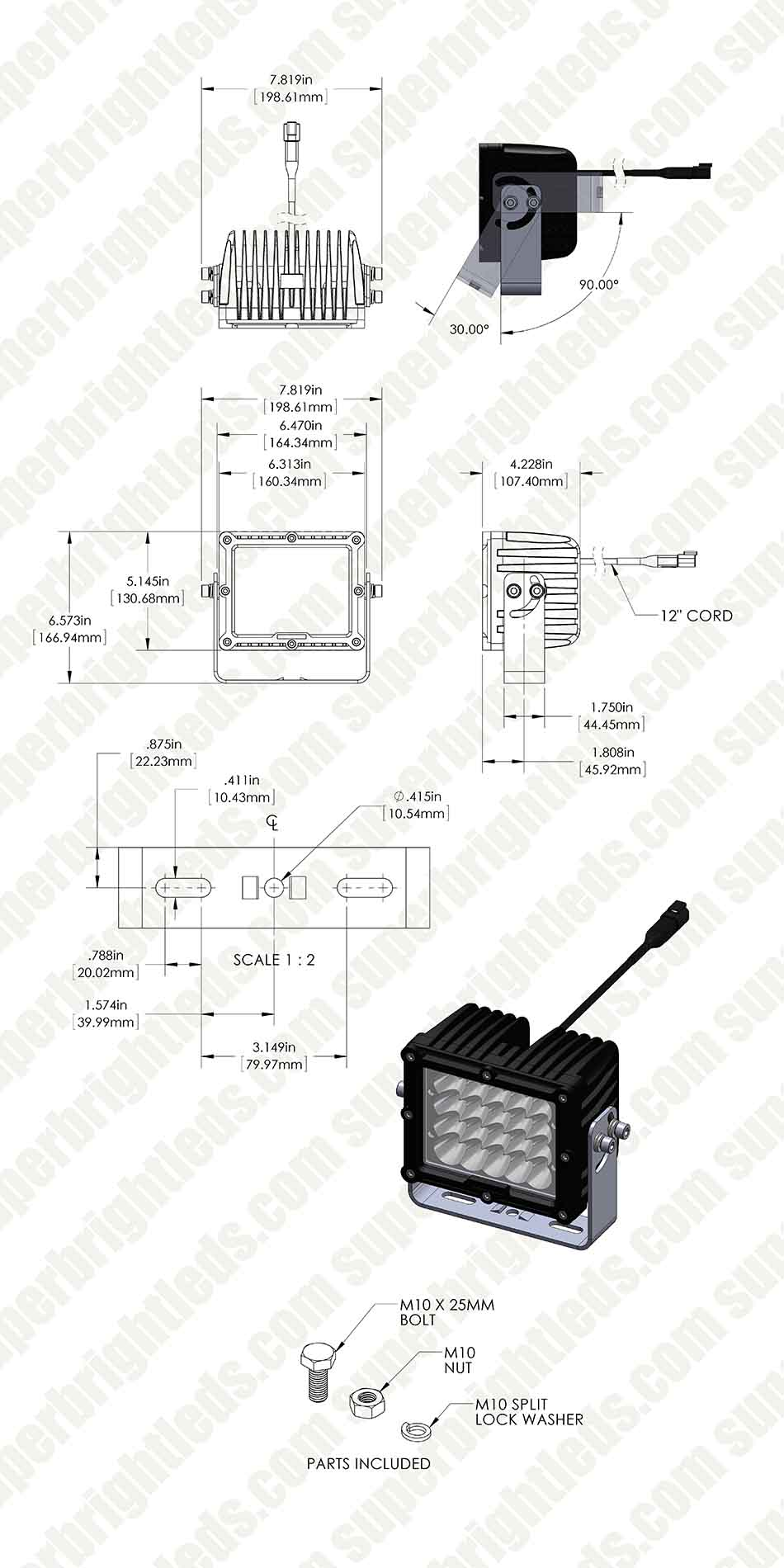 Led Work Light Wiring Diagram Wire Three Lights Ac Off Road