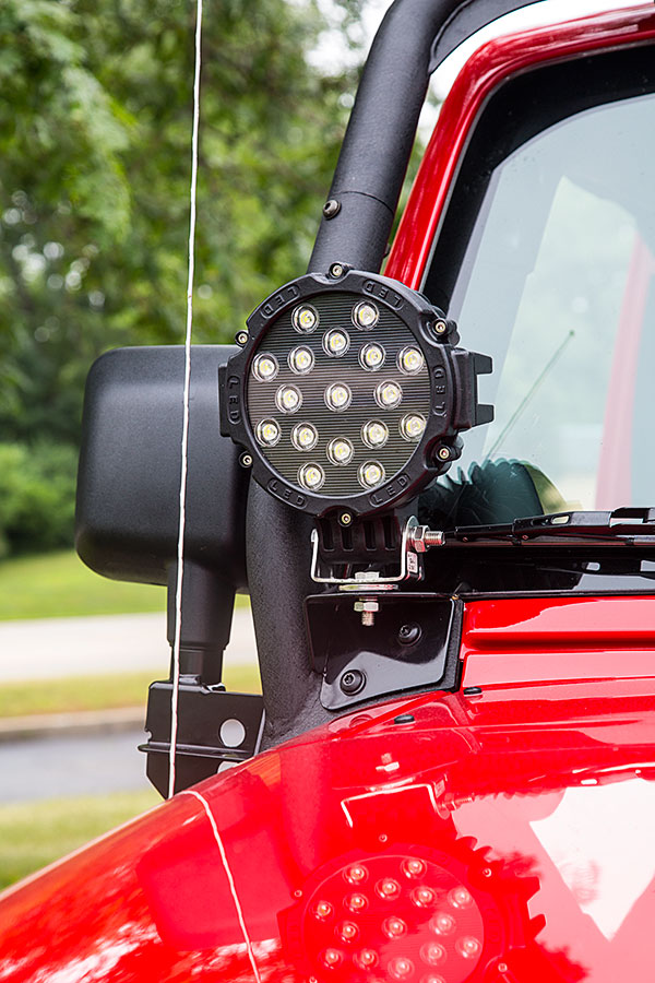 6round 51w Heavy Duty High Powered Led Work Light Off Road