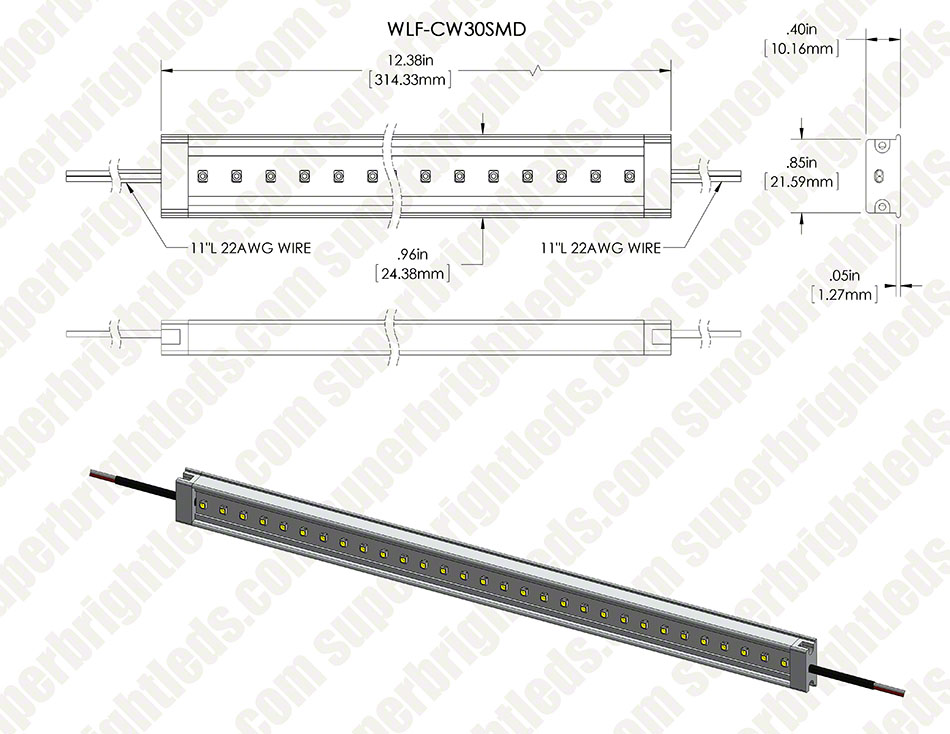 WLF series High Power LED Waterproof Light Bar Fixture
