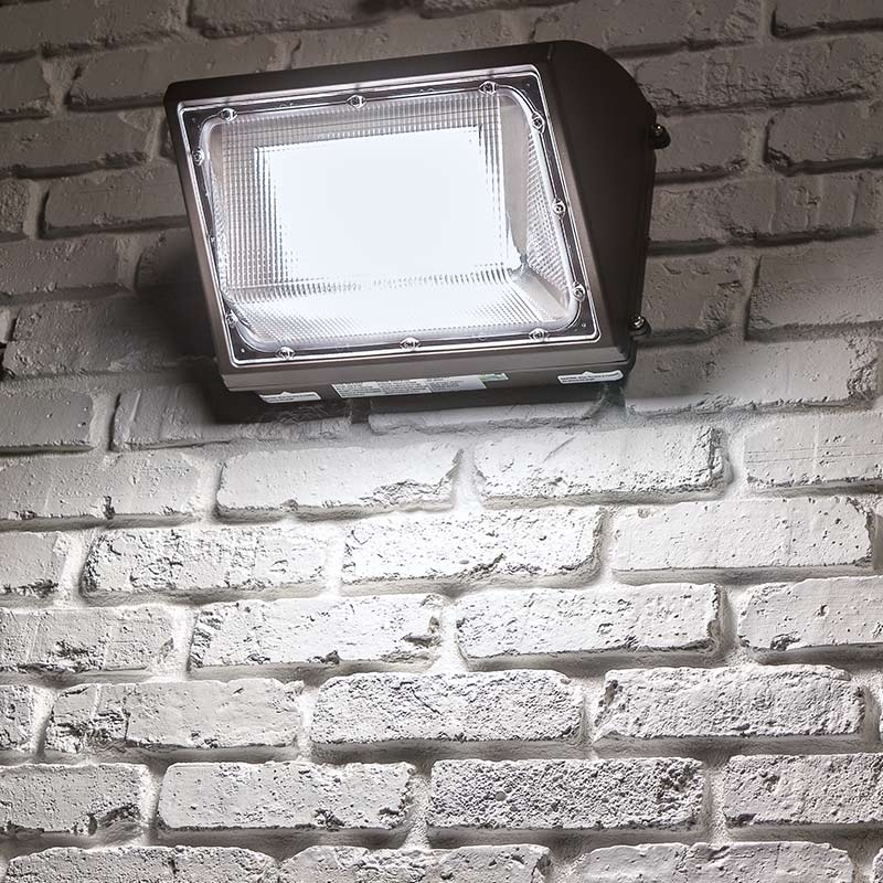 Hyperselect Led 100w Wall Pack Light: 100W LED Wall Pack With Photocell