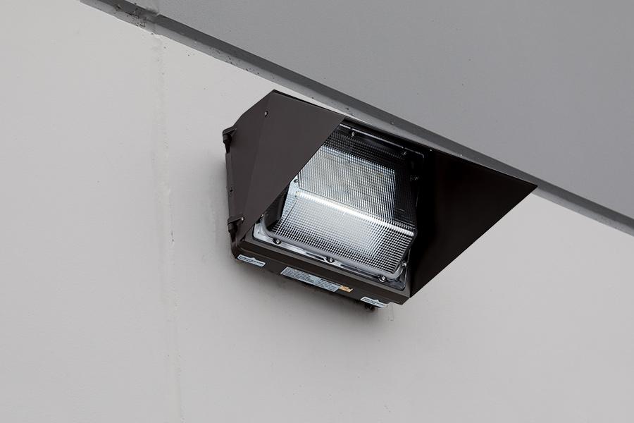 External Flood Light >> Glare Shield for LED Wall Pack | Super Bright LEDs