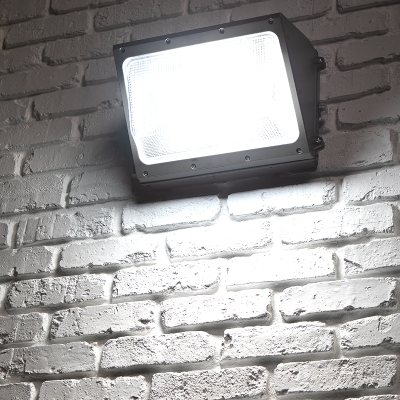 Hyperselect Led 100w Wall Pack Light: 100W LED Wall Pack W/ Integrated Photocell