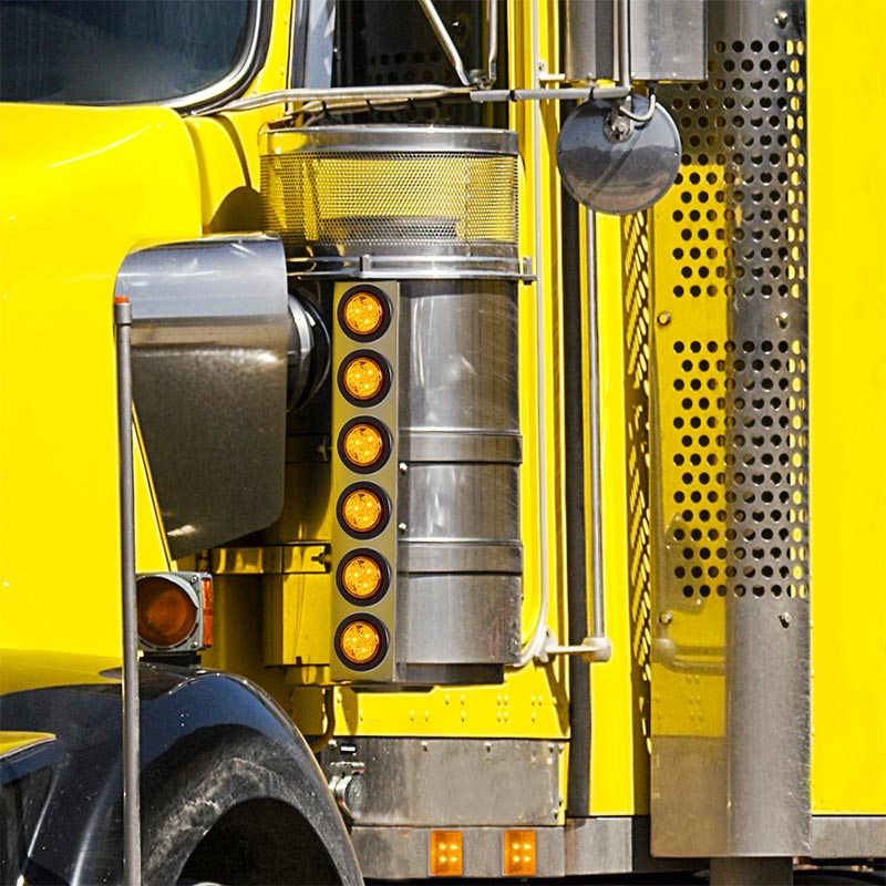 Rectangular Led Truck And Trailer Lights 2 5 8 Led Side