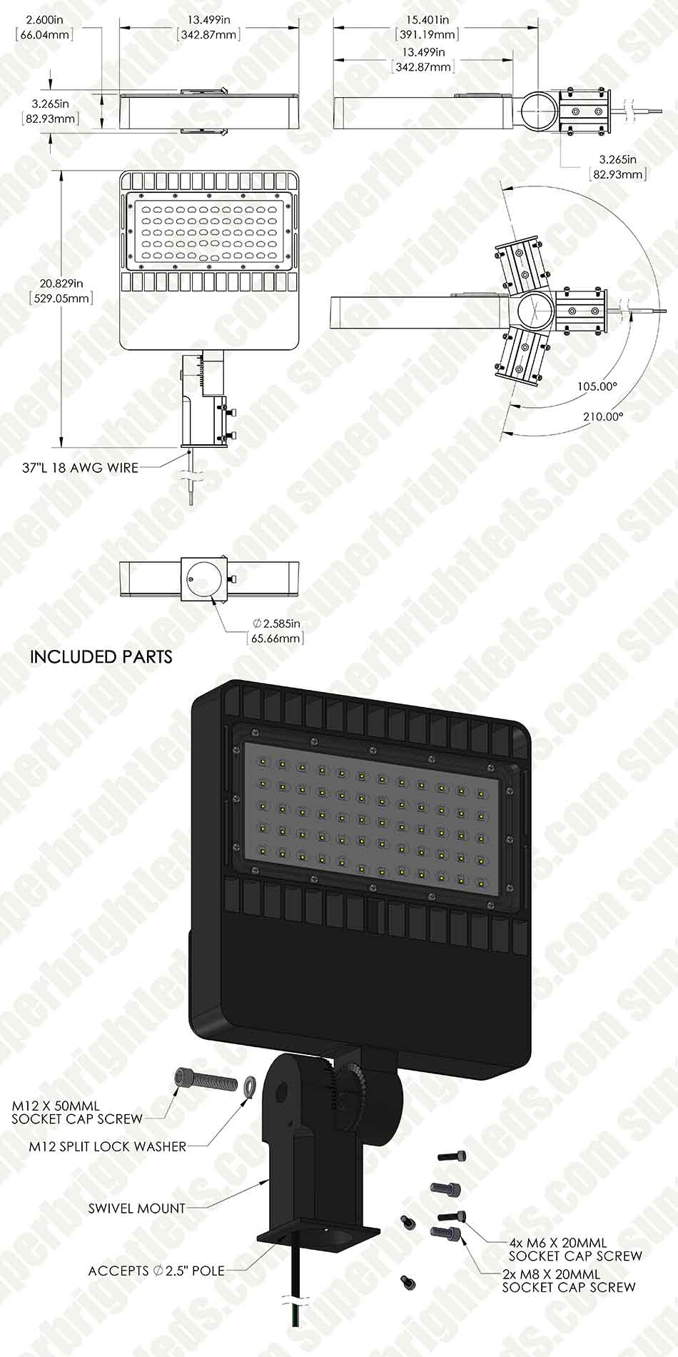 Wiring Diagram Parking Lot Lights : Wiring led lights parking lot light lens
