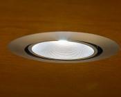 1 Watt LED Downlight Kit - 6 Piece: Close Up Of Light Installed In Desk