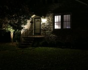 10 Watt LED Landscape Flood Light w/ Mounting Spike: Shown Illuminating Magnolia Tree.