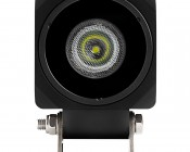 "10W Mini-Aux 2"" Square LED Work Light: Front View"