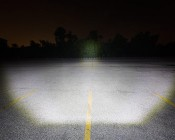 """20"""" Off Road LED Light Bar - 100W: Driver's Perspective Of Beam Angle Aimed At Treeline 100 Feet Away"""