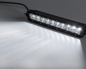 """10"""" Off Road LED Light Bar Kit with Spot/Flood Combo Beam - 50W: On Showing Beam Pattern."""