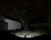 10 Watt High Power LED Flood Light Fixture: Shown Illuminating Backyard (Approx. 30' To Fence).