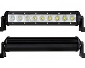 """11"""" Compact Off Road LED Light Bar - 27W: Front & Back Views"""