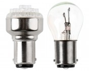 1142 LED Bulb - 12 LED Forward Firing Cluster - BA15D Retrofit: Profile View