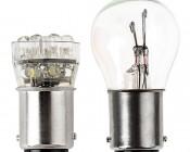 1142 LED Bulb - 15 LED Forward Firing Cluster - BA15D Retrofit: Profile View