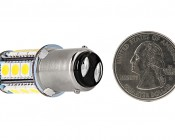 1142 LED Bulb - 18 SMD LED Tower - BA15D Retrofit: Back View