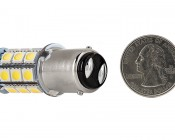 1142 LED Bulb - 27 SMD LED Tower - BA15D Retrofit: Back View with Size Comparison